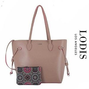 Lodis Bliss Leather Tote + Wristlet